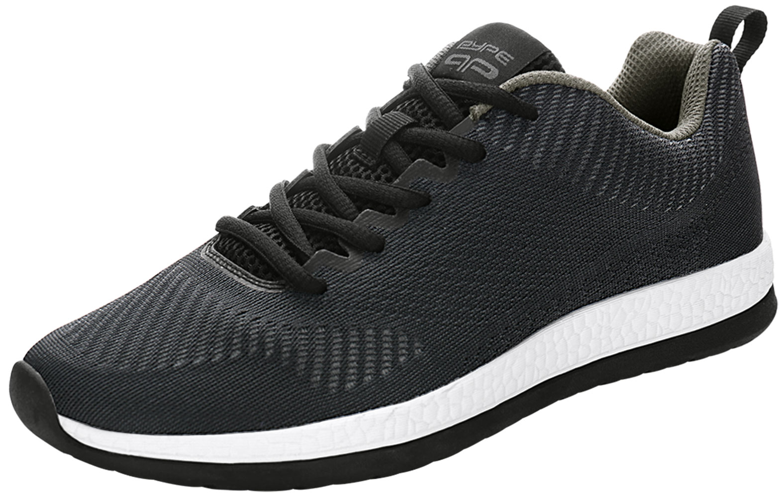 PYPE Women Mesh Contrast Color Round Toe Training Sneakers Black US 7.5