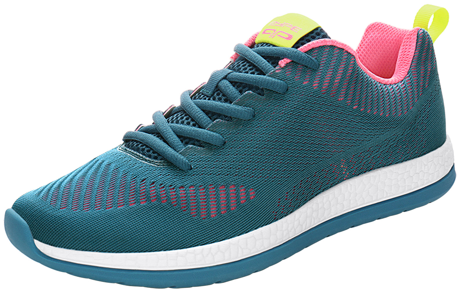 PYPE Women Mesh Contrast Color Round Toe Training Sneakers Blue US 10