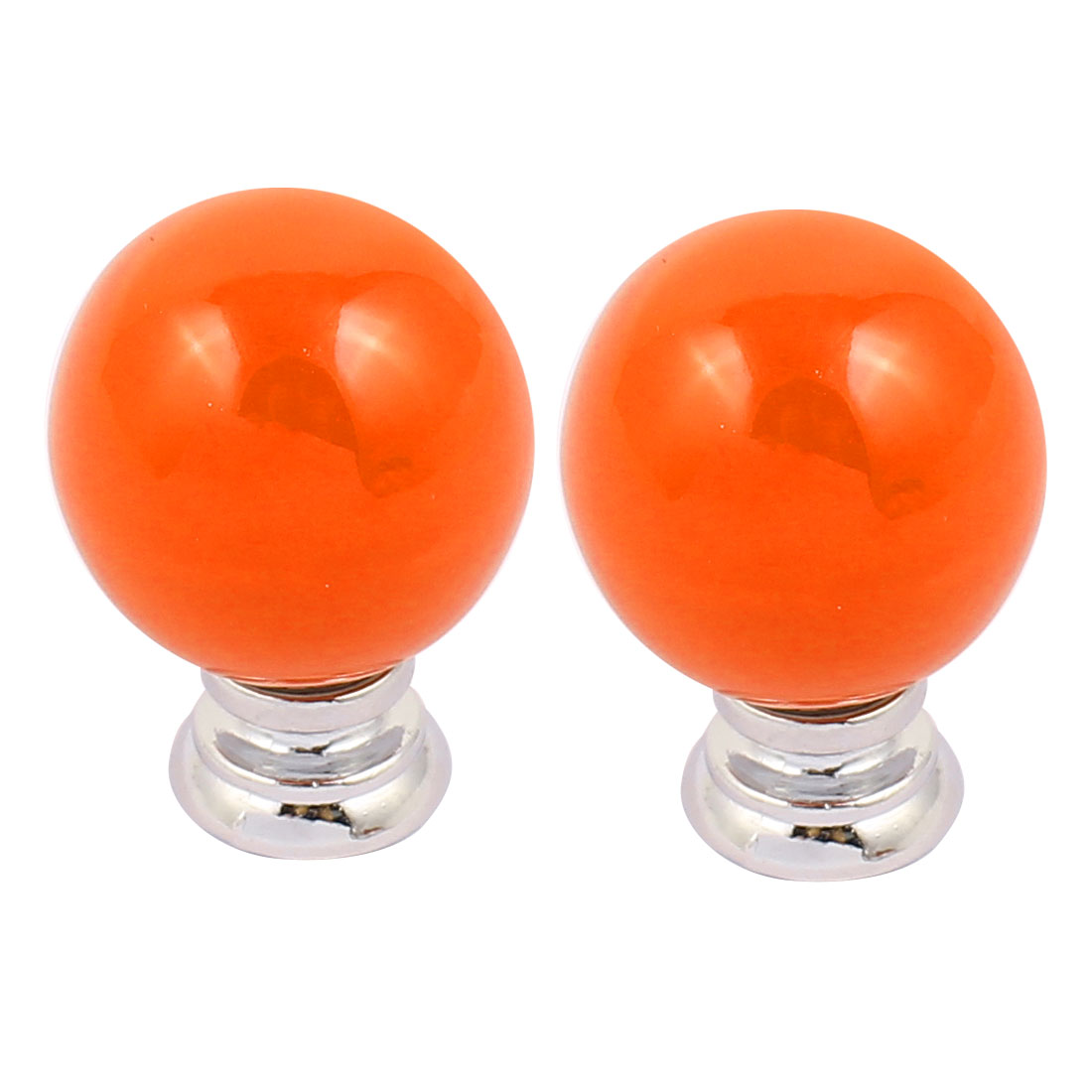 Cabinet Wardrobe Drawer Door Pull Cherry Shape Ceramic Knobs Handle Orange 2pcs