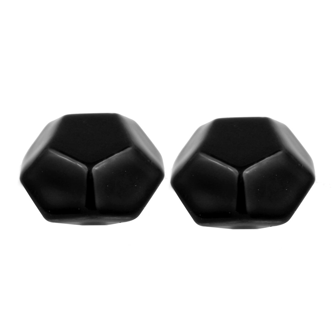 Cabinet Wardrobe Drawer Door Pull Diamond Shape Ceramic Knobs Handle Black 2pcs