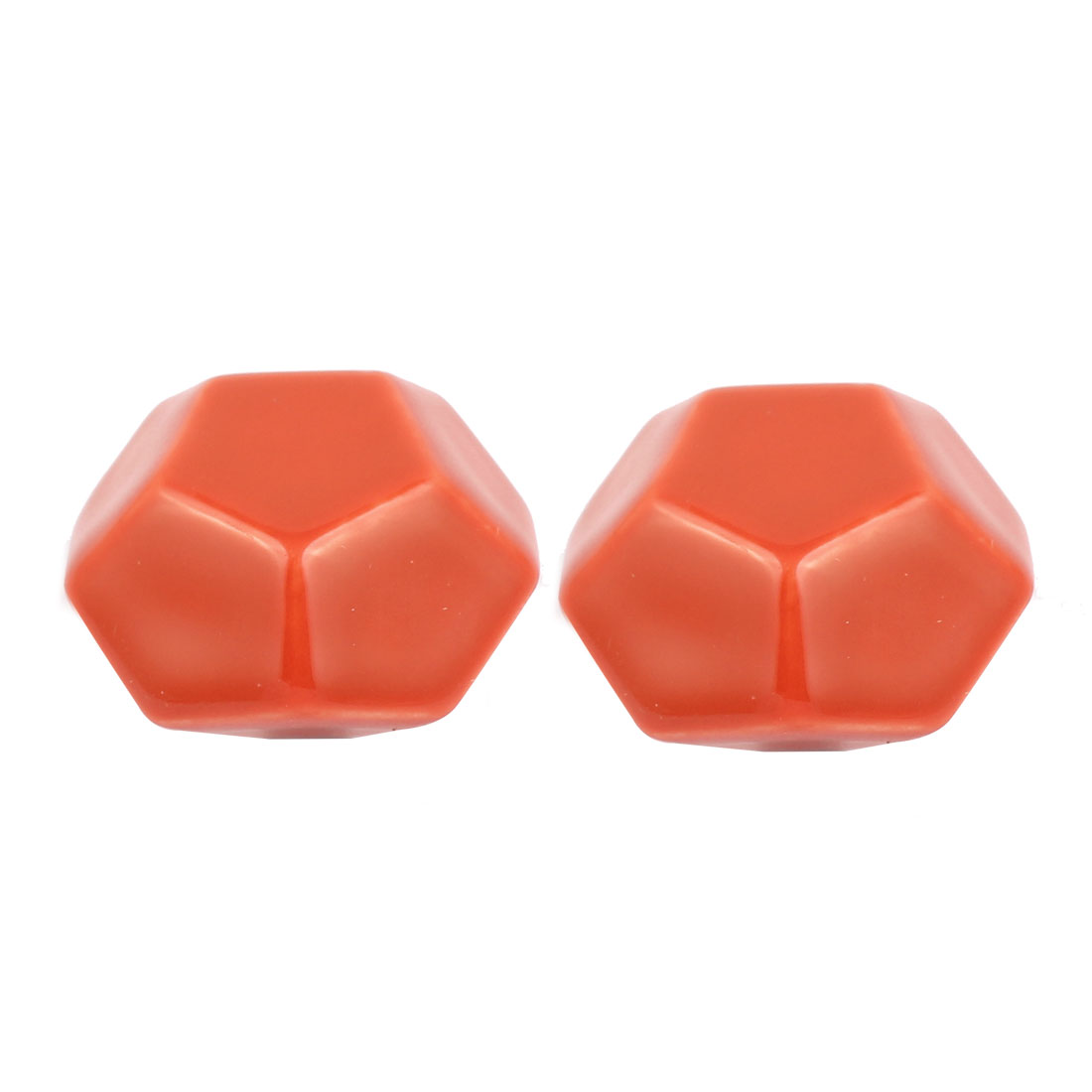 Cabinet Wardrobe Drawer Door Pull Diamond Shape Ceramic Knobs Handle Orange 2pcs