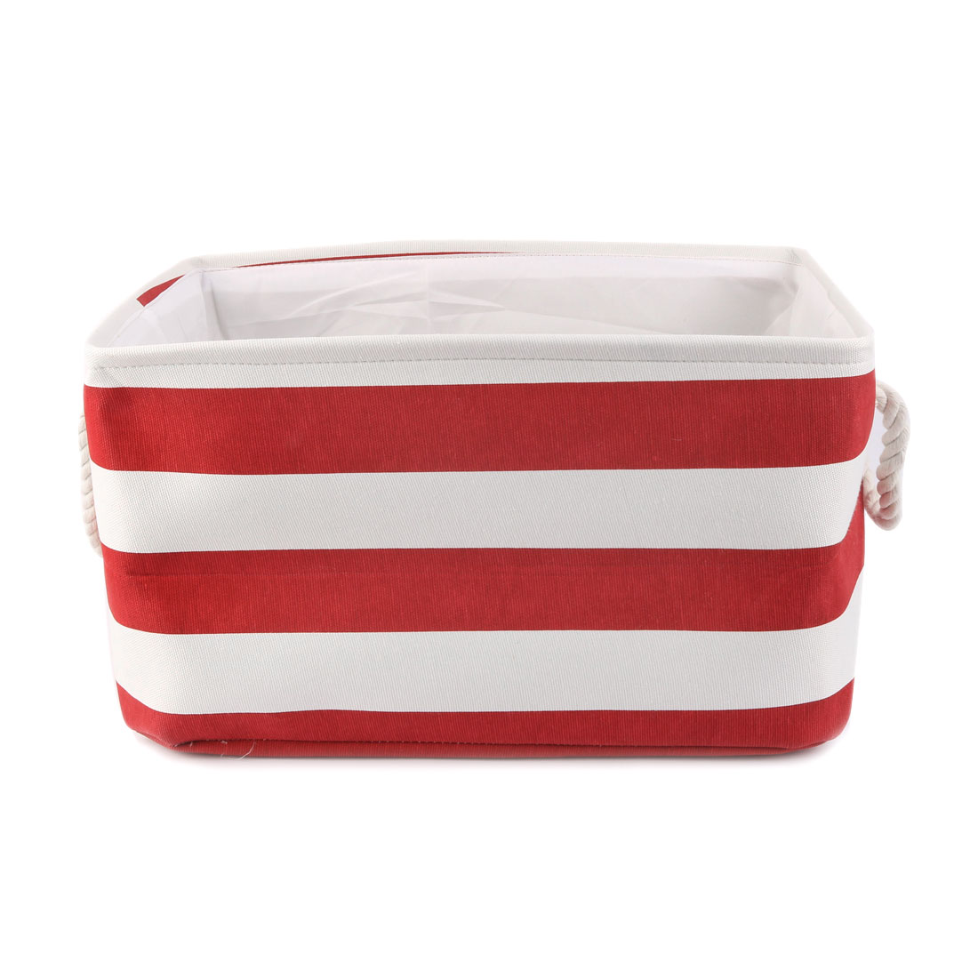 Household Fabric Storage Bin Basket Closet Clothes Box Container Organizer Red