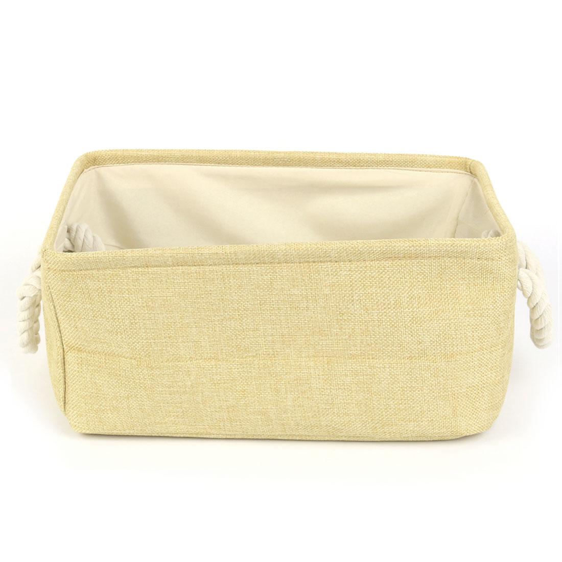Collapsible Storage Basket Bin Toys Organizer Box Fabric Baskets Beige S Size