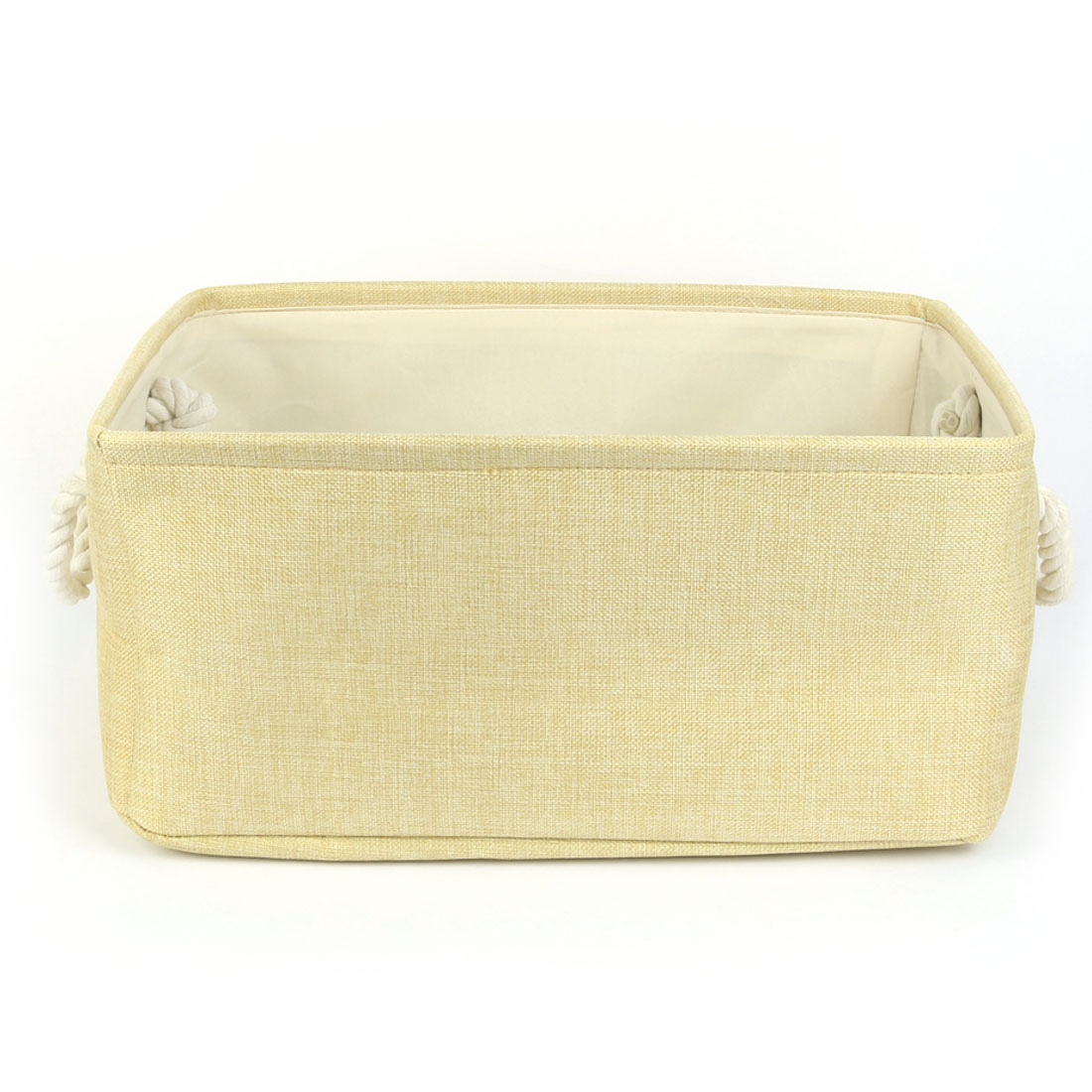 Household Fabric Storage Bin Basket Closet Blanket Box Container Organizer Beige