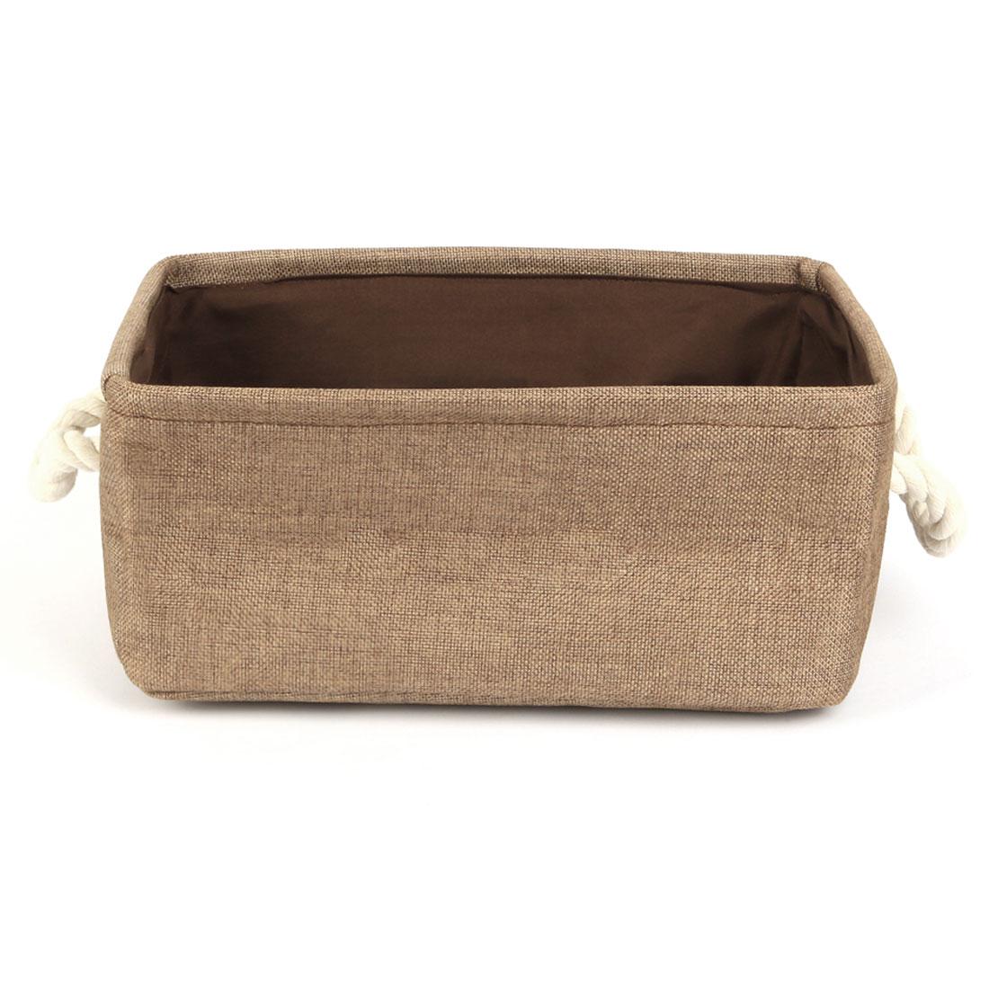 Home Fabric Storage Bin Basket Closet Toy Box Container Organizer Coffee Color