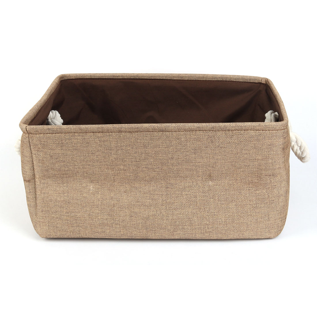 Home Fabric Storage Bin Basket Closet Clothes Box Container Organizer Coffee Color