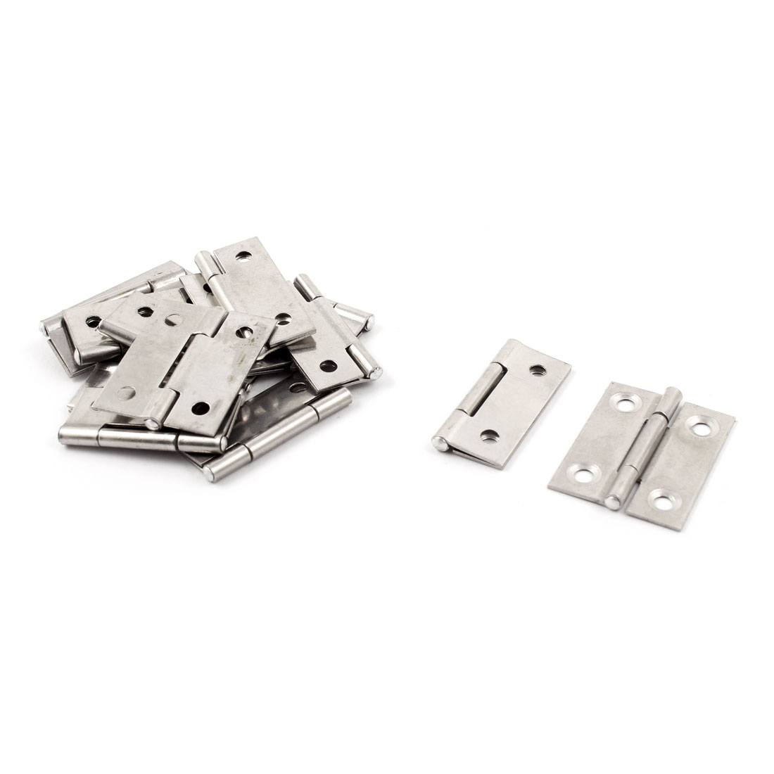 41mmx31mmx9mm Cupboard Cabinet Closet Square Corner Butt Door Hinge Silver Tone 14pcs