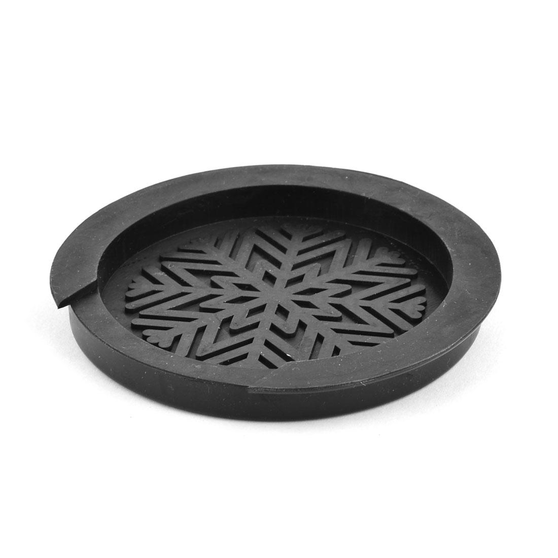 Bass Rubber Snowflake Pattern Block Plug Guitar Sound Hole Cover 11cm Dia Black