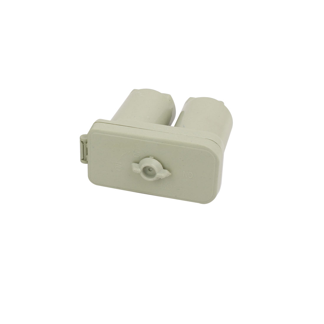 Gray Plastic Dual Capacitor Protector Junction Box 90mm x 42mm x 75mm