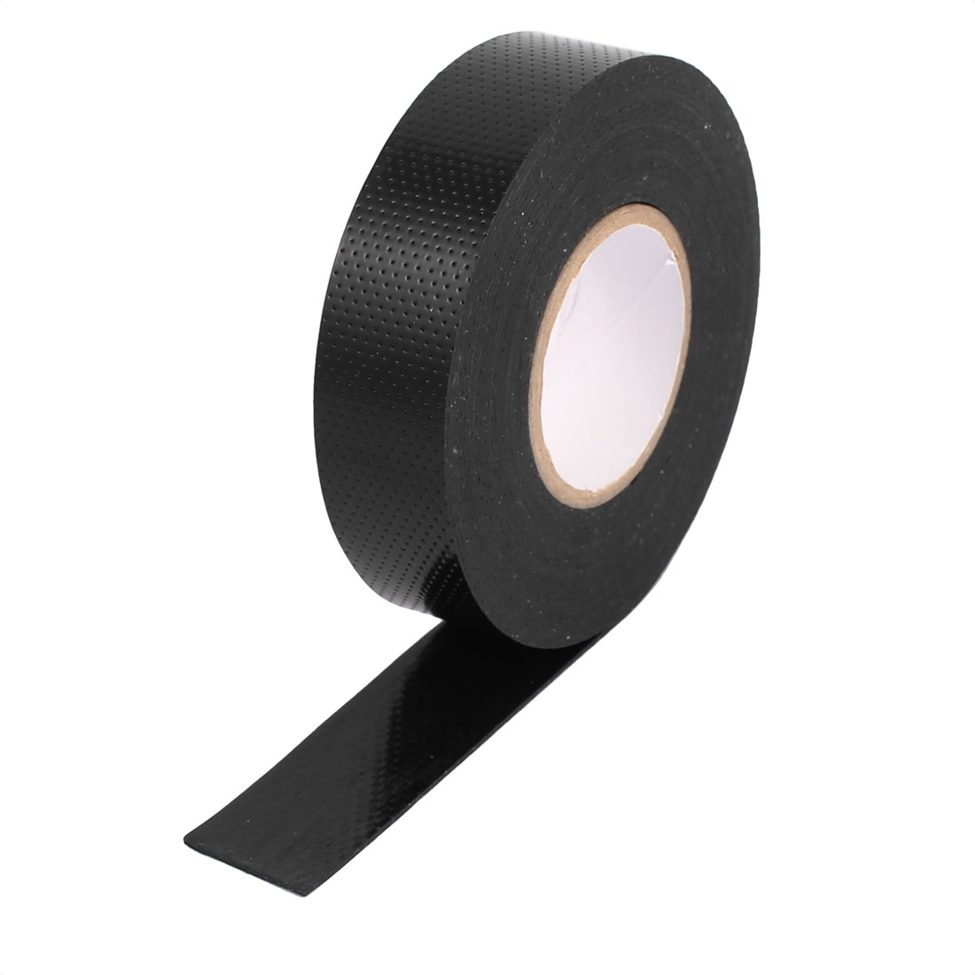 Black 21mm Width Waterproof PVC Electrical Wire Insulation Self-adhesive Roll Tape