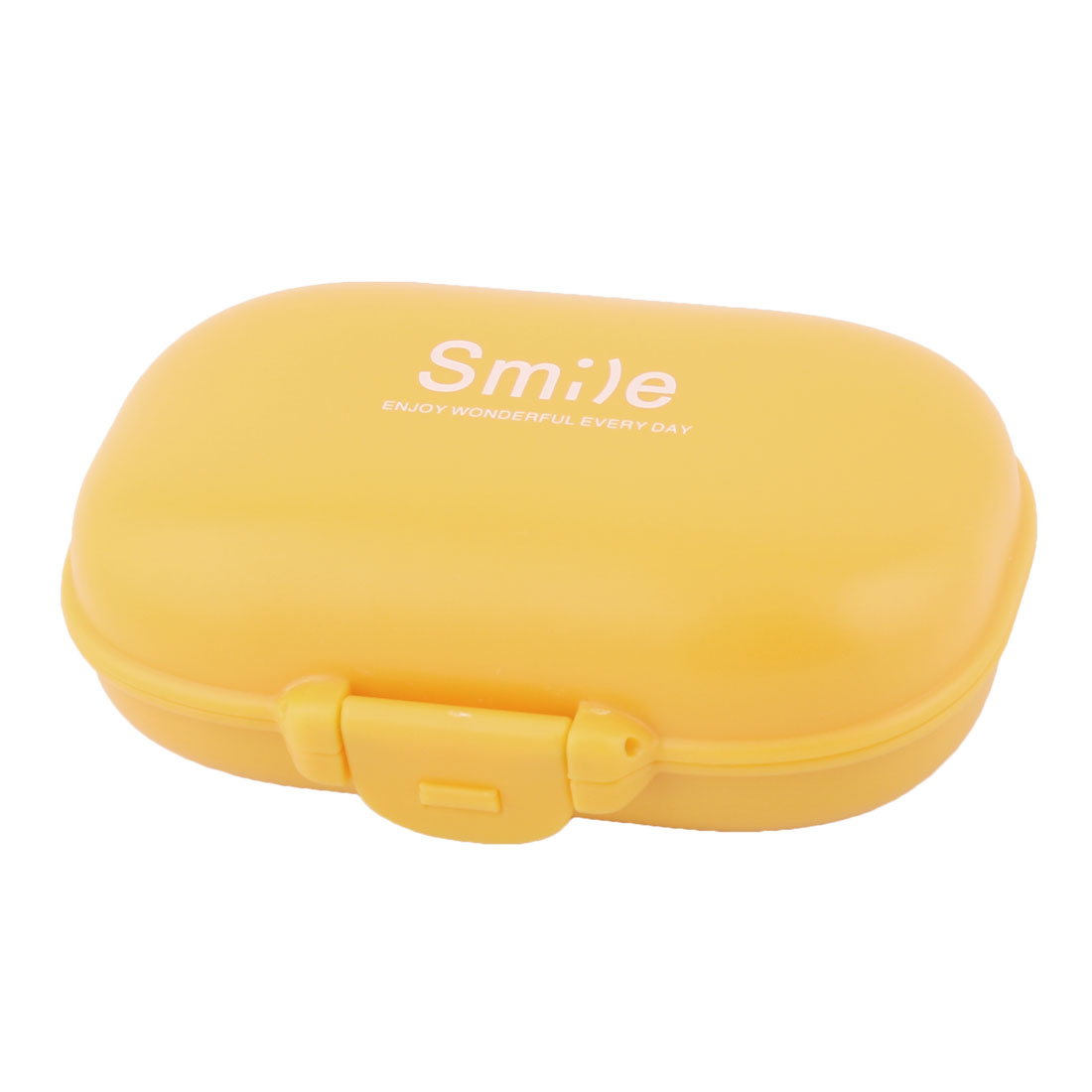Home Travel Plastic 4 Slots Medicine Pill Capsule Storage Box Organizer Orange
