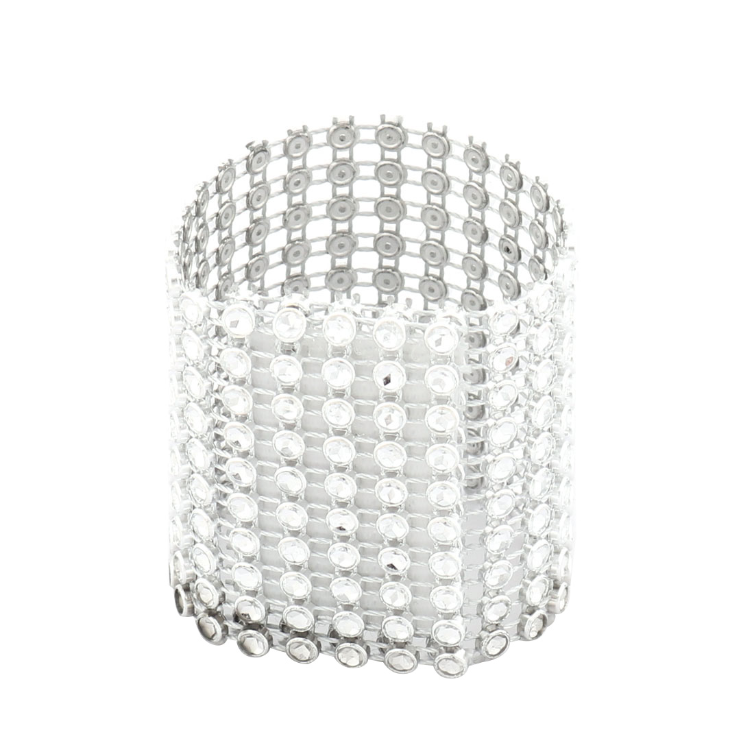 Restaurant Rhinestone Self Adhesive Lunch Napkin Serviette Holder Ring Loop Hoop