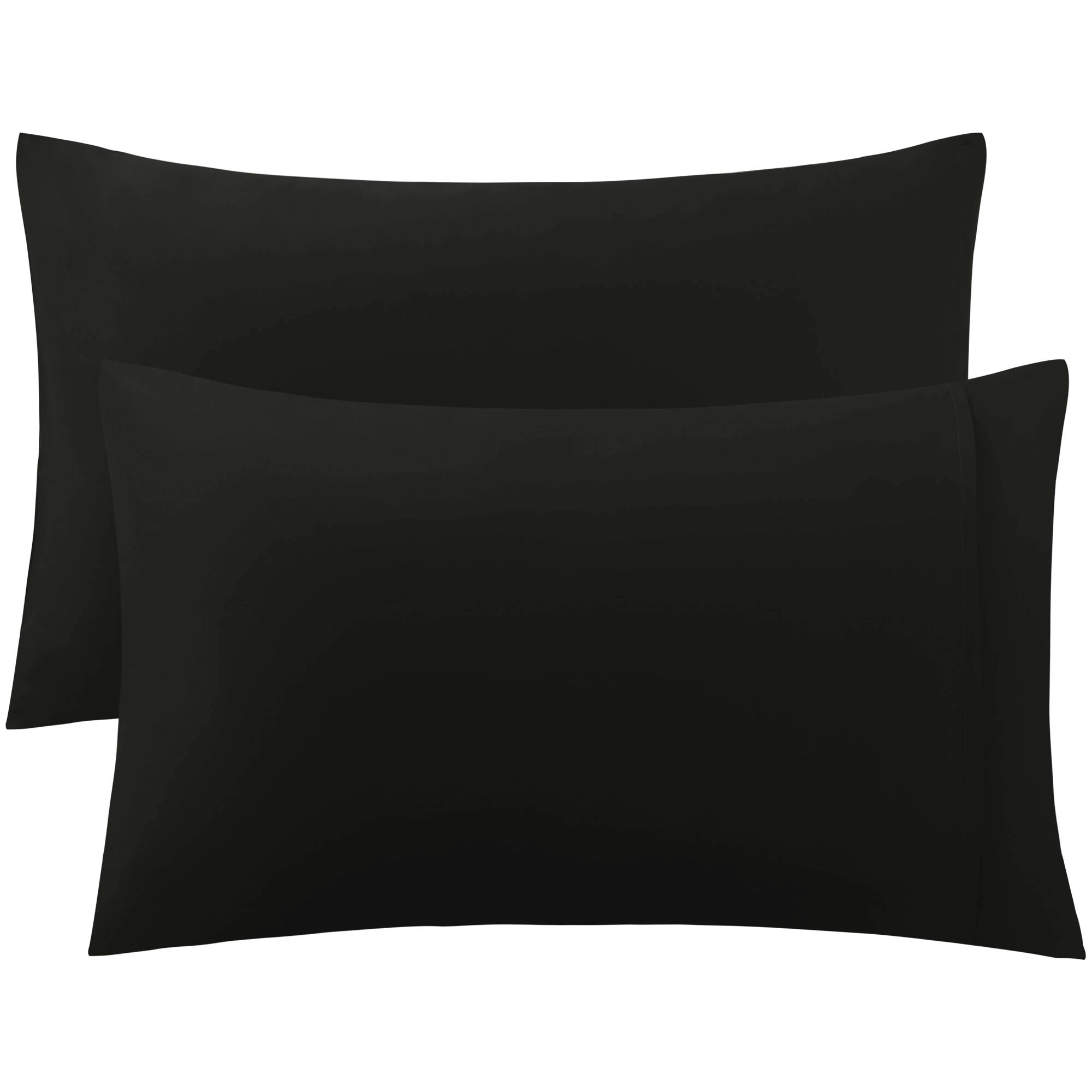 PiccoCasa 300 Thread Count Egyptian Cotton King Size Pillowcases Pillow Cases Covers Set of 2 Black