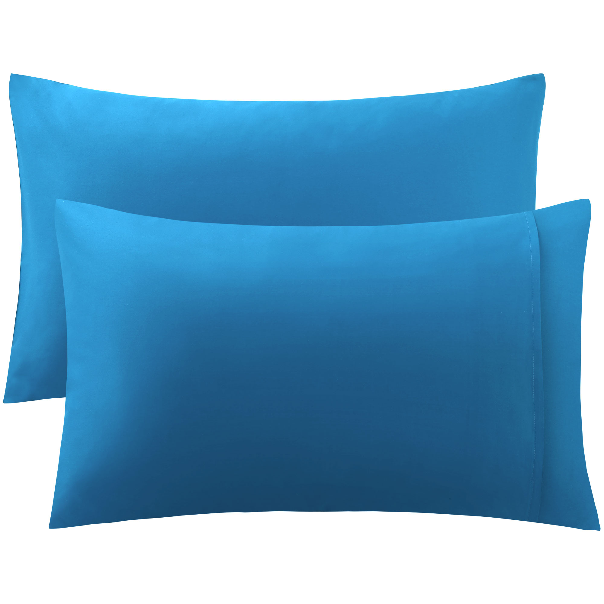 PiccoCasa 300 Thread Count Egyptian Cotton King Size Pillowcases Pillow Cases Covers Set of 2 Blue