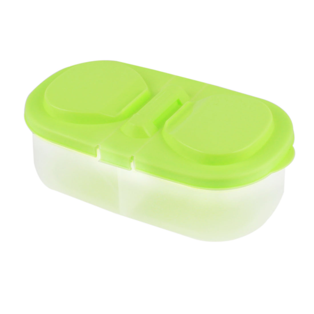 Home Kitchenware Plastic 2 Slots Food Vegetable Fruit Bean Storage Container Box Green