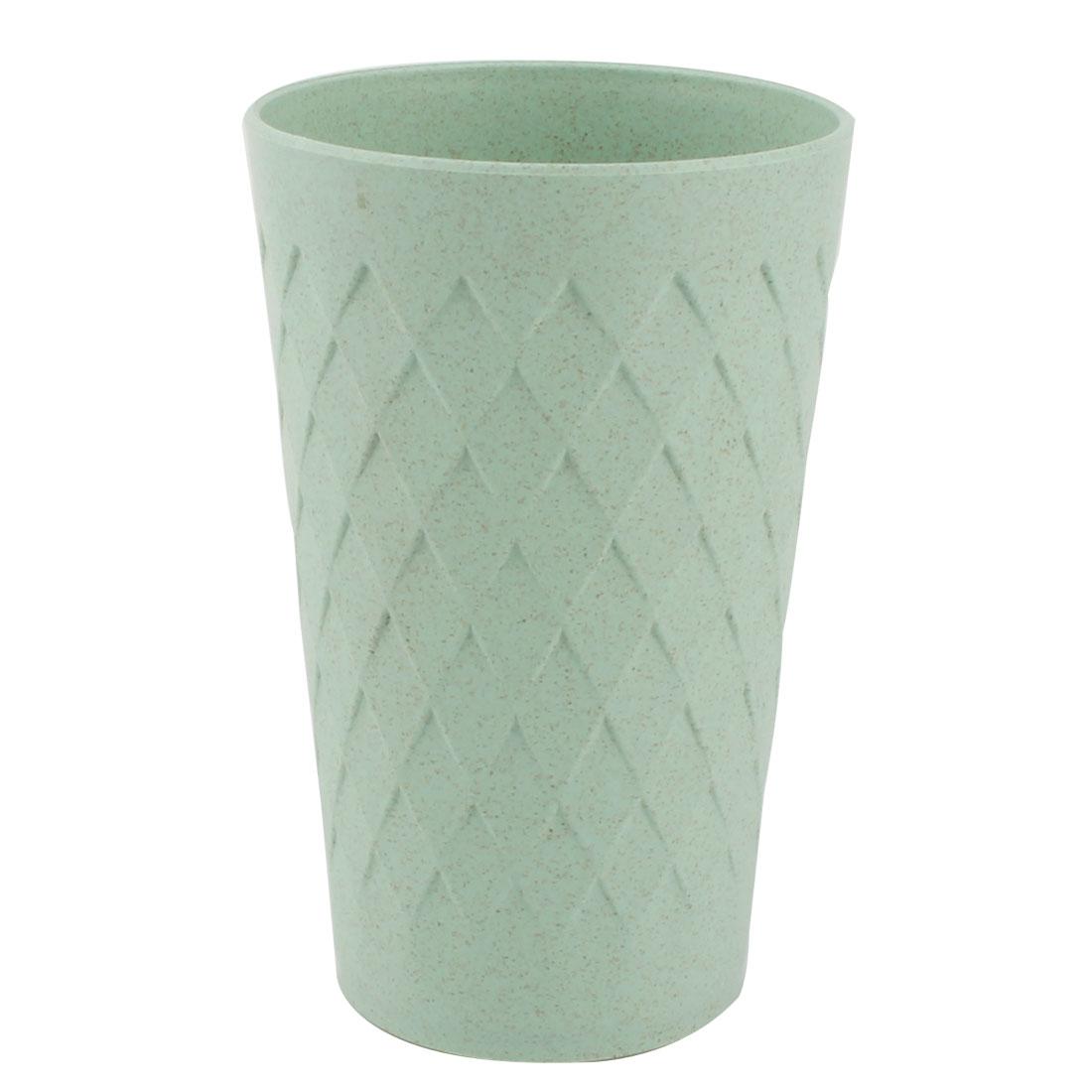 Household Office Plastic Rhombus Pattern Water Tea Milk Coffee Drinking Holder Cup Green