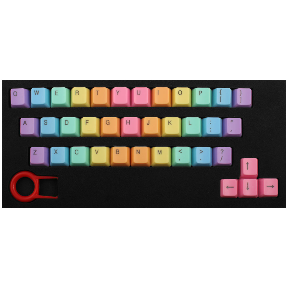 ABS 37 Keys Backlight Rainbow Keycaps Pink for Mechanical Keyboard