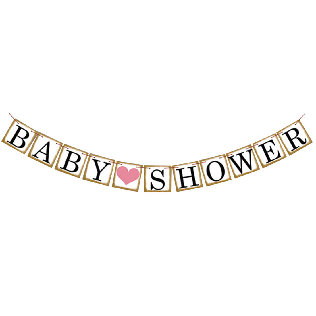 Letter Design Birthday Party Decoration Photo Prop Banner Set 11 in 1