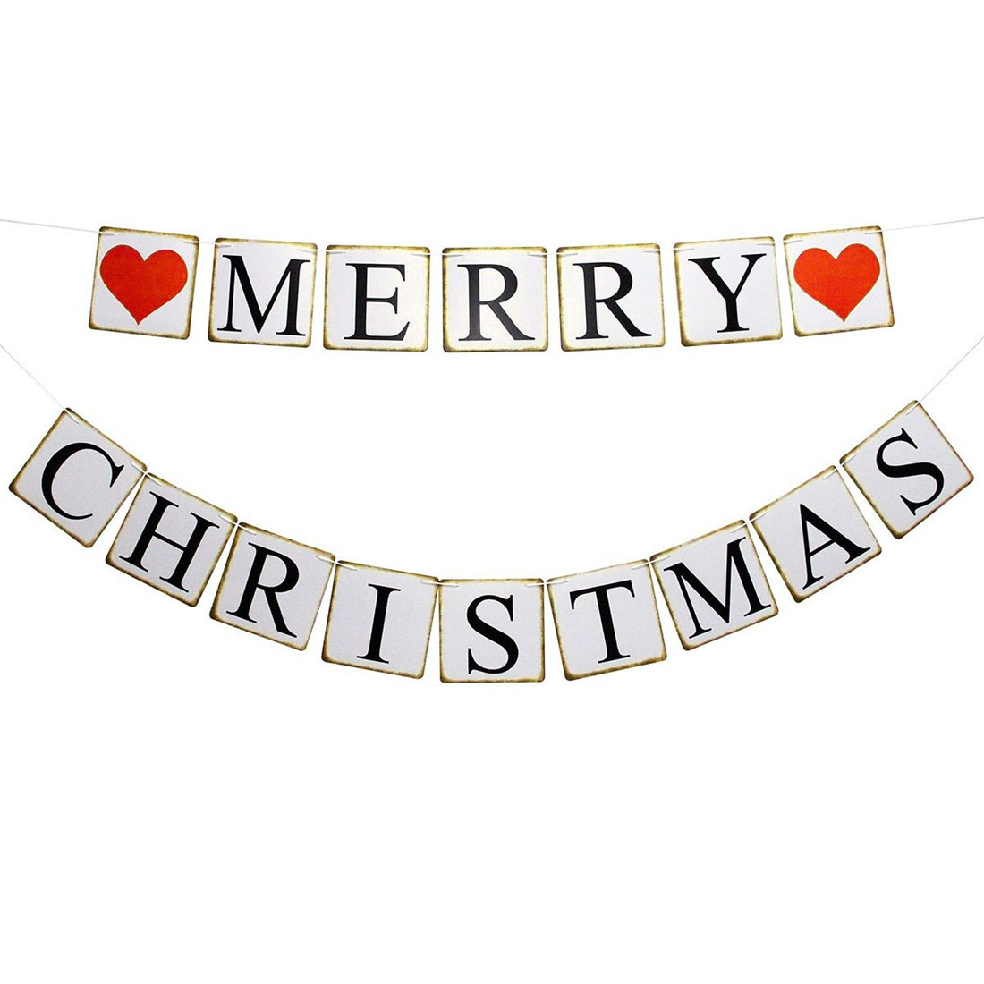MERRY Letter Party Decoration Photo Prop Banner Set 15 in 1