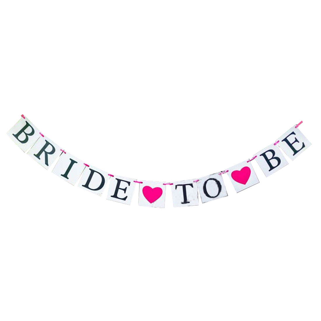 BRIDE TO BE Letter Engagement Party Ornament Photo Prop Banner Set 11 in 1
