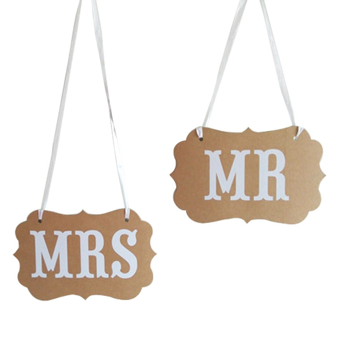 MR MRS Letter Wedding Party Ornament Photo Prop Bunting Banner Set 2 in 1