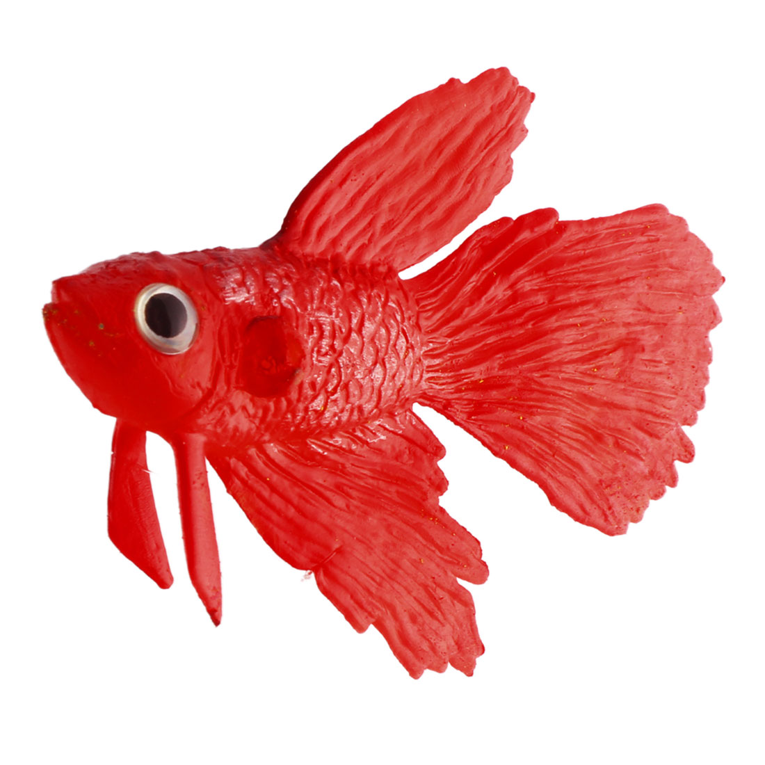 Aquarium Silicone Suction Cup Thread Tropical Aquatic Floating Rumble Fish Red