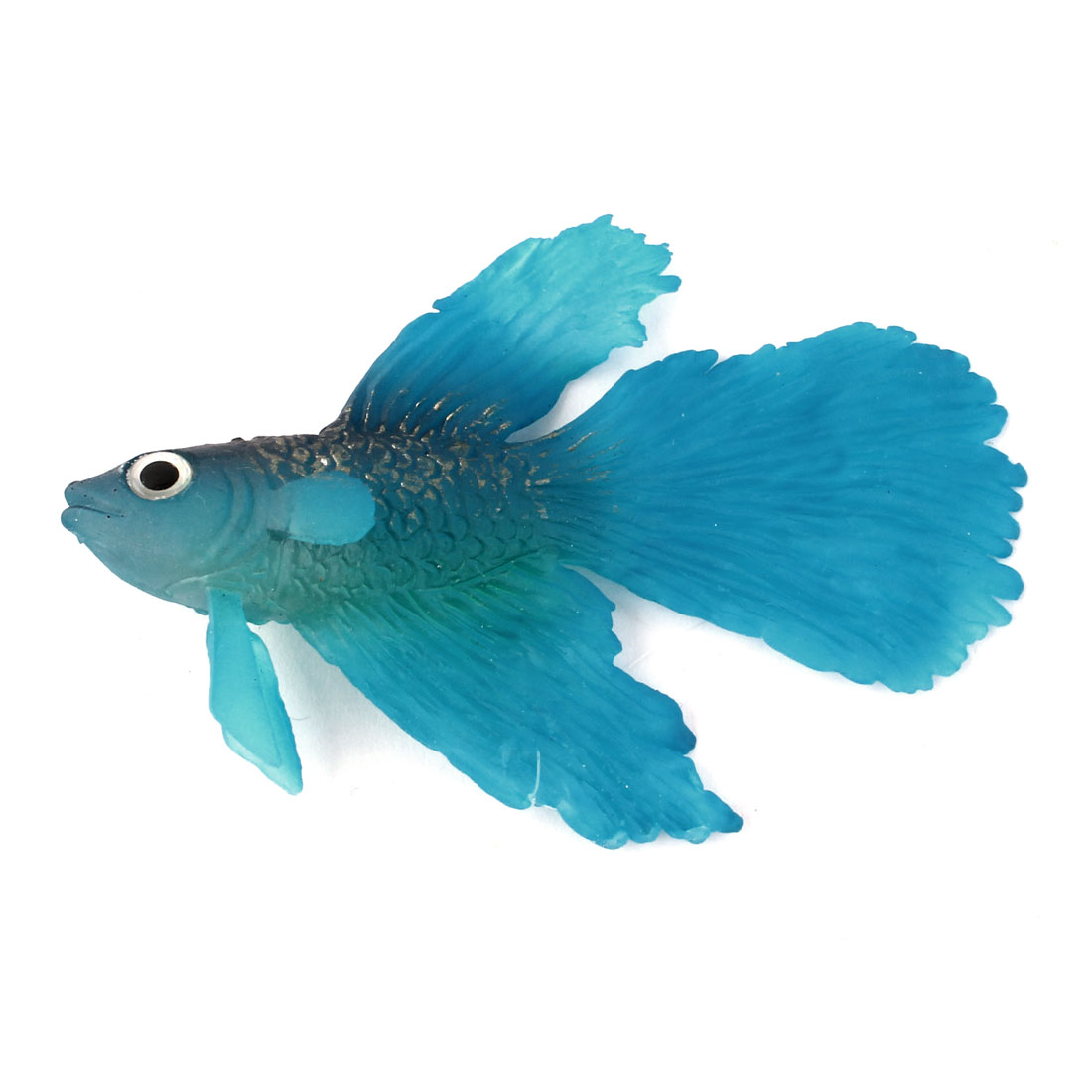 Home Aquarium Suction Cup Thread Tropical Sea Aquatic Floating Rumble Fish Blue