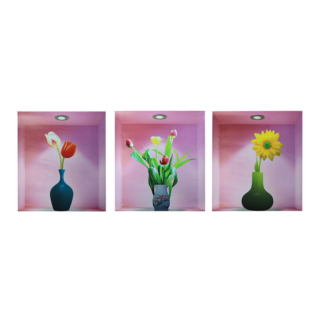 Home Room PVC Flower Vase Pattern Removable 3D Magic DIY Wall Art Sticker Decal