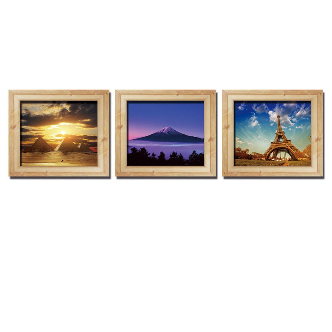 Home Room PVC Desert Landscape Pattern Removable 3D Magic DIY Wall Decoration Art Sticker Decal