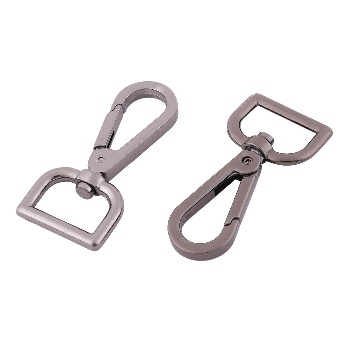 Bag Straps Pets Chain Connector Trigger Hook Titanium Color 2cm Fit Width 2 Pcs