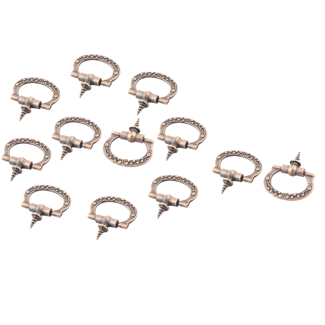 Metal Dresser Door Jewelry Box Drawer Pull Handle Ring Knob 2mm Thread Dia 12pcs