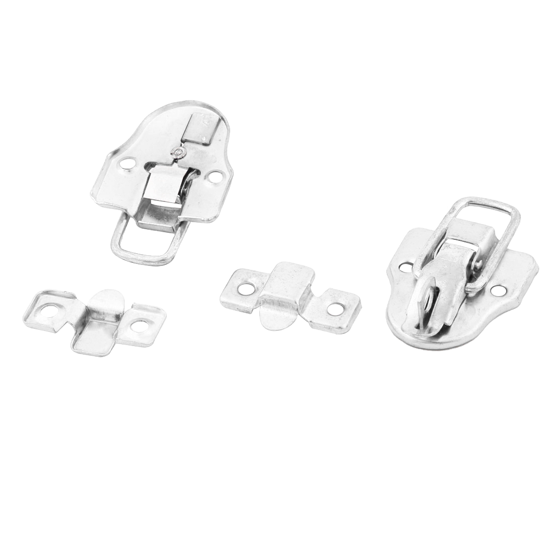 62mmx40mmx15mm Case Metal Hardware Toggle Box Latch Lock Hasp Silver Tone 2 PCS