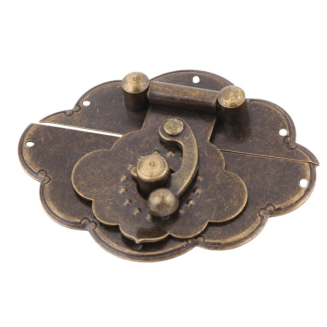 65mmx50mmx10mm Case Metal Vintage Toggle Box Latch Hasp Lock Bronze Tone
