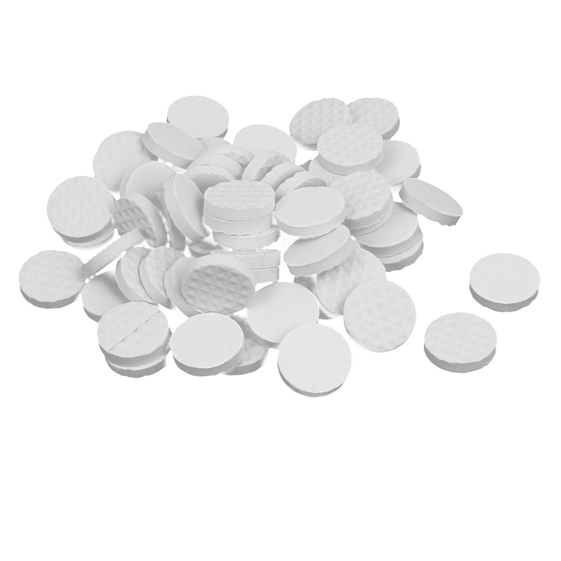 18mm Dia Rubber Self Adhesive Anti-Skid Furniture Protection Pads White 60pcs