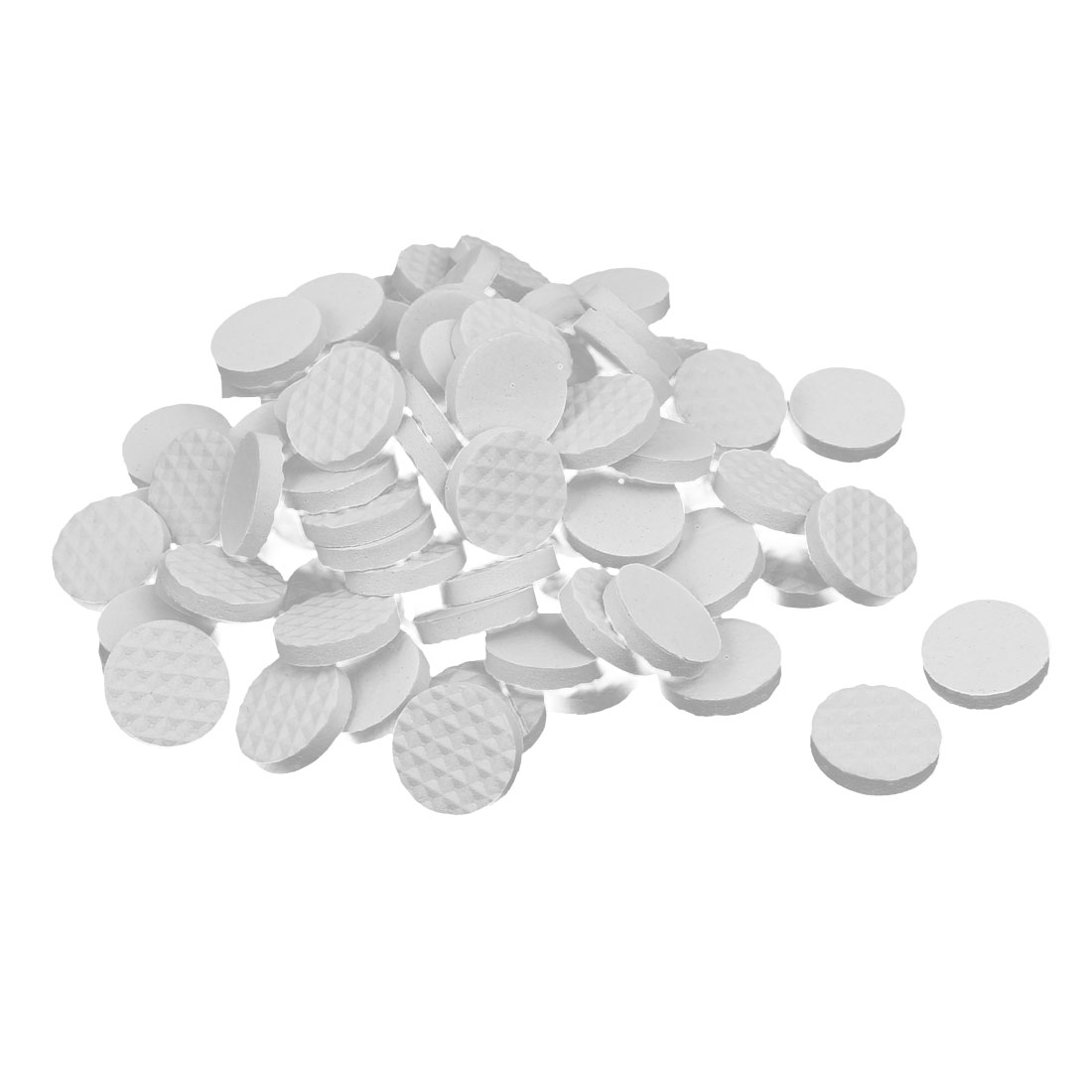 18mm Dia Rubber Self Adhesive Anti-Skid Furniture Protection Pads White 88pcs