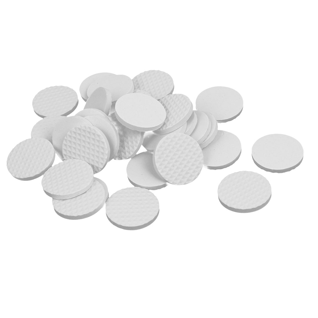 30mm Dia Rubber Self Adhesive Anti-Skid Furniture Protection Pads White 32pcs