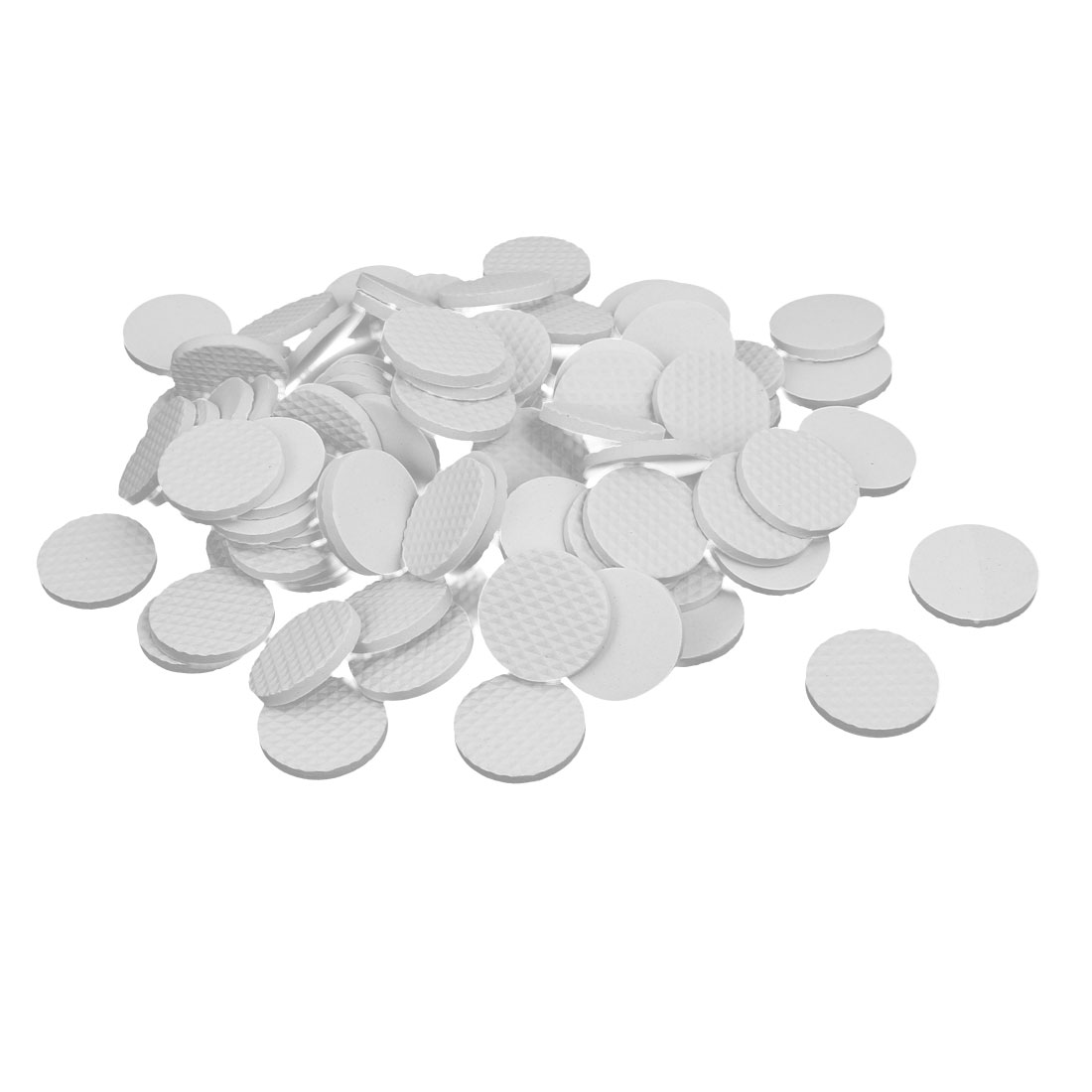 30mm Dia Rubber Self Adhesive Anti-Skid Furniture Protection Pads White 90pcs