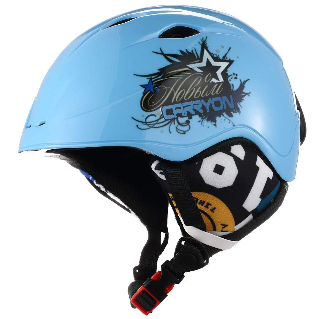 Sporting Plastic Carryon Authorized Kids Warm Snowboard Ski Helmet Snow Head Protective Blue