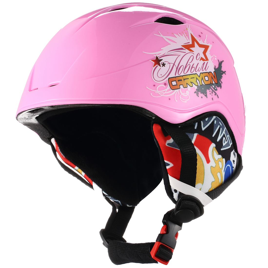 Sporting Plastic Kids Warm Snowboard Ski Helmet Winter Head Protective Gear Pink