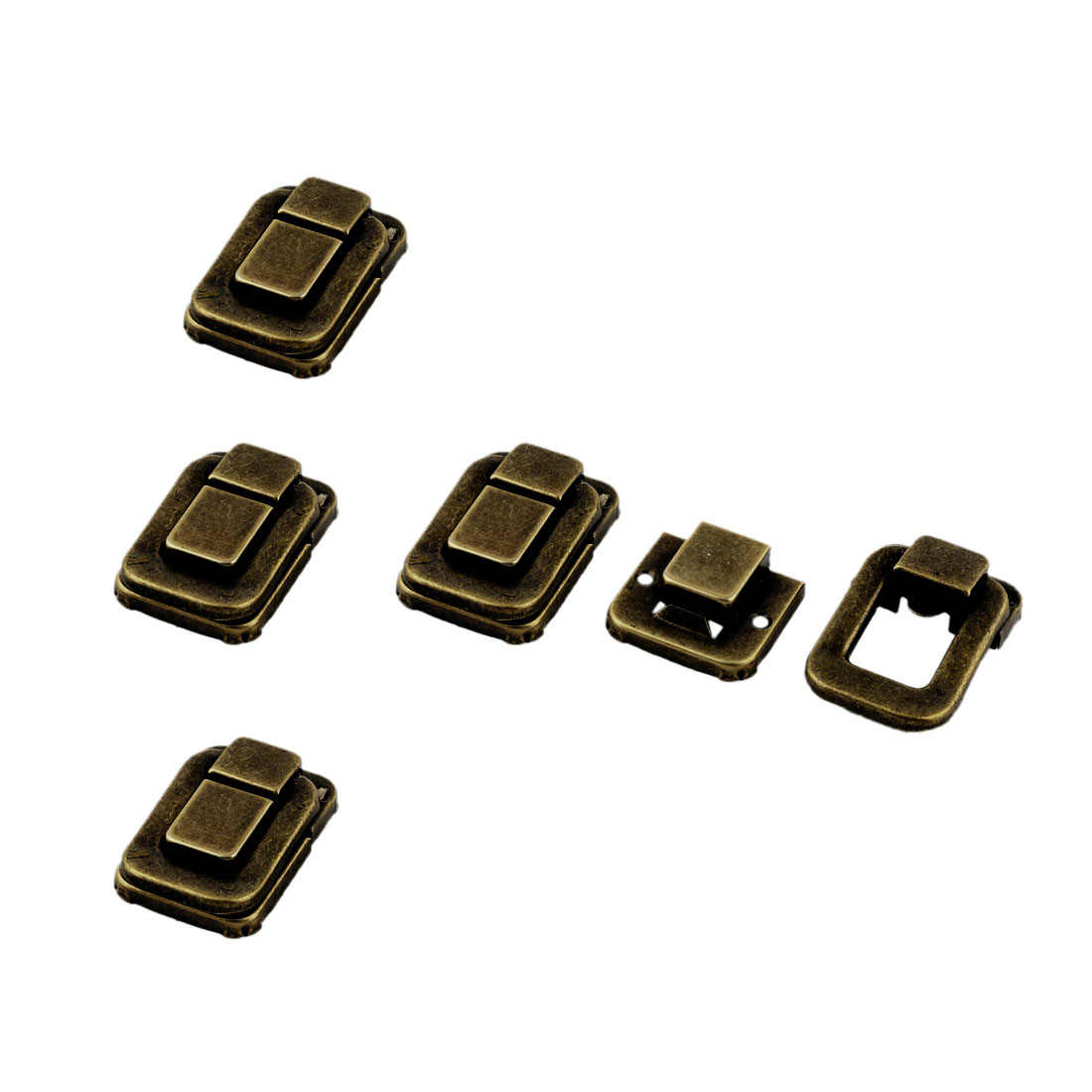 Case Trunk Chest Box Toggle Catch Latch Clip Clasp Brass Tone 33mm x 48mm 5 Sets