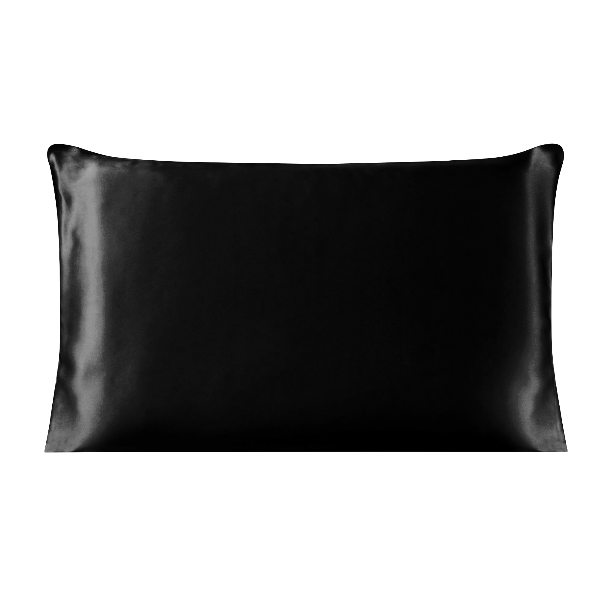 Piccocasa 100% Mulberry Silk Pillow Case Cover Pillowcase Black Queen Size