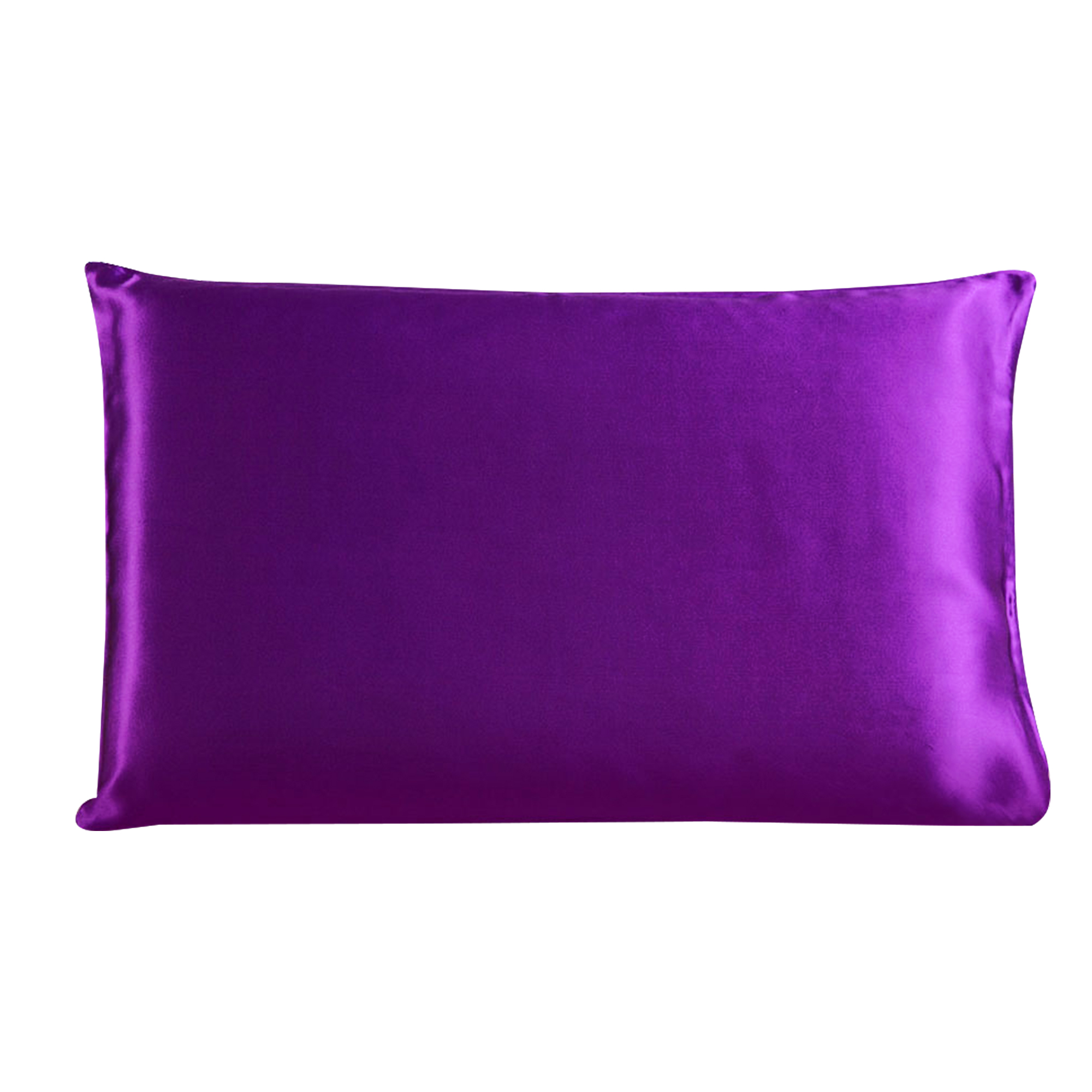 Piccocasa 100% Mulberry Silk Pillow Case Cover Pillowcase Purple Queen Size