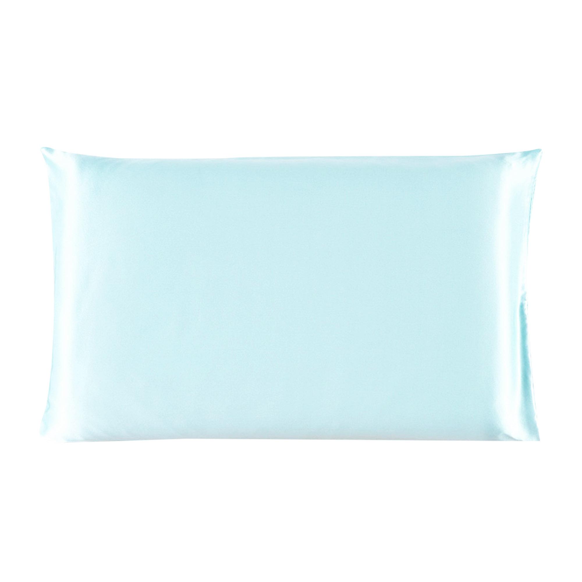 Piccocasa 100% Mulberry Silk Pillow Case Cover Pillowcase Light Blue Queen Size