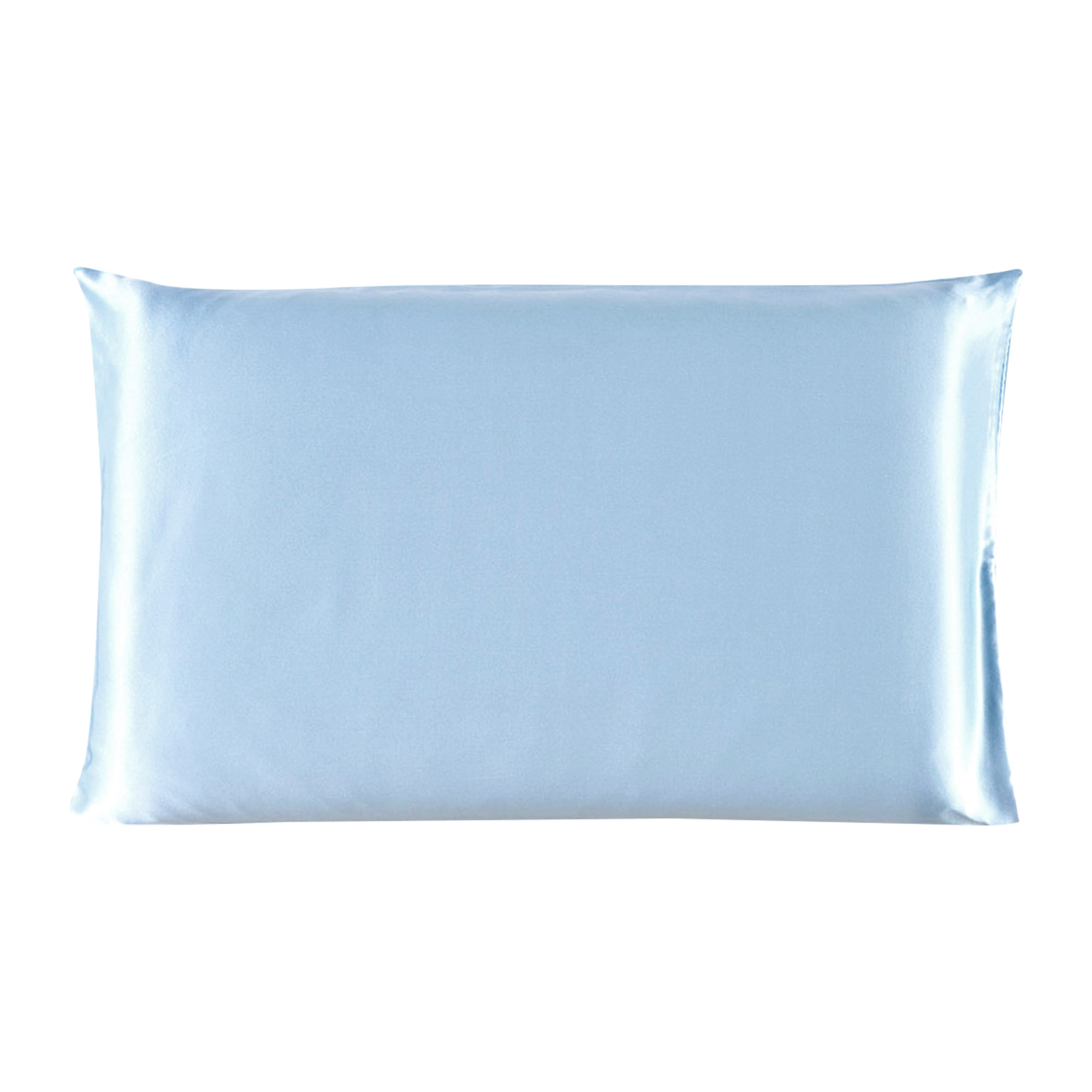 Piccocasa 100% Mulberry Silk Pillow Case Cover Pillowcase Blue Queen Size