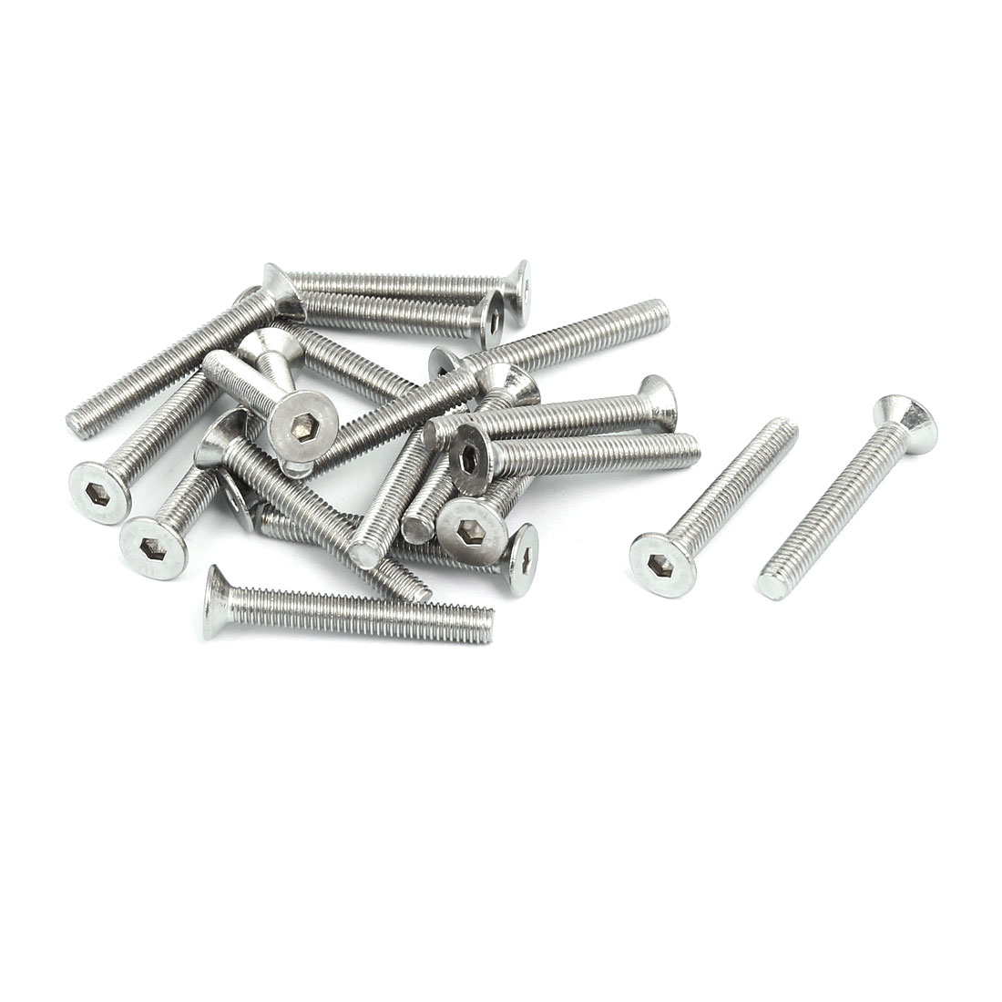 M5x35mm 304 Stainless Steel Countersunk Flat Head Hex Socket Screws DIN7991 20pcs