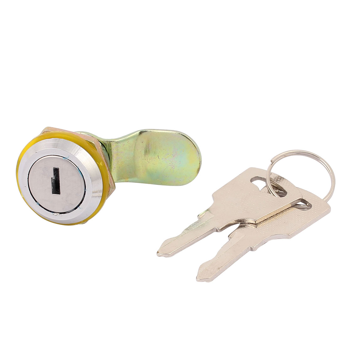 17.5mm Thread Dia Closet Drawer Toolbox Tubular Security Cam Lock w 2 Keys