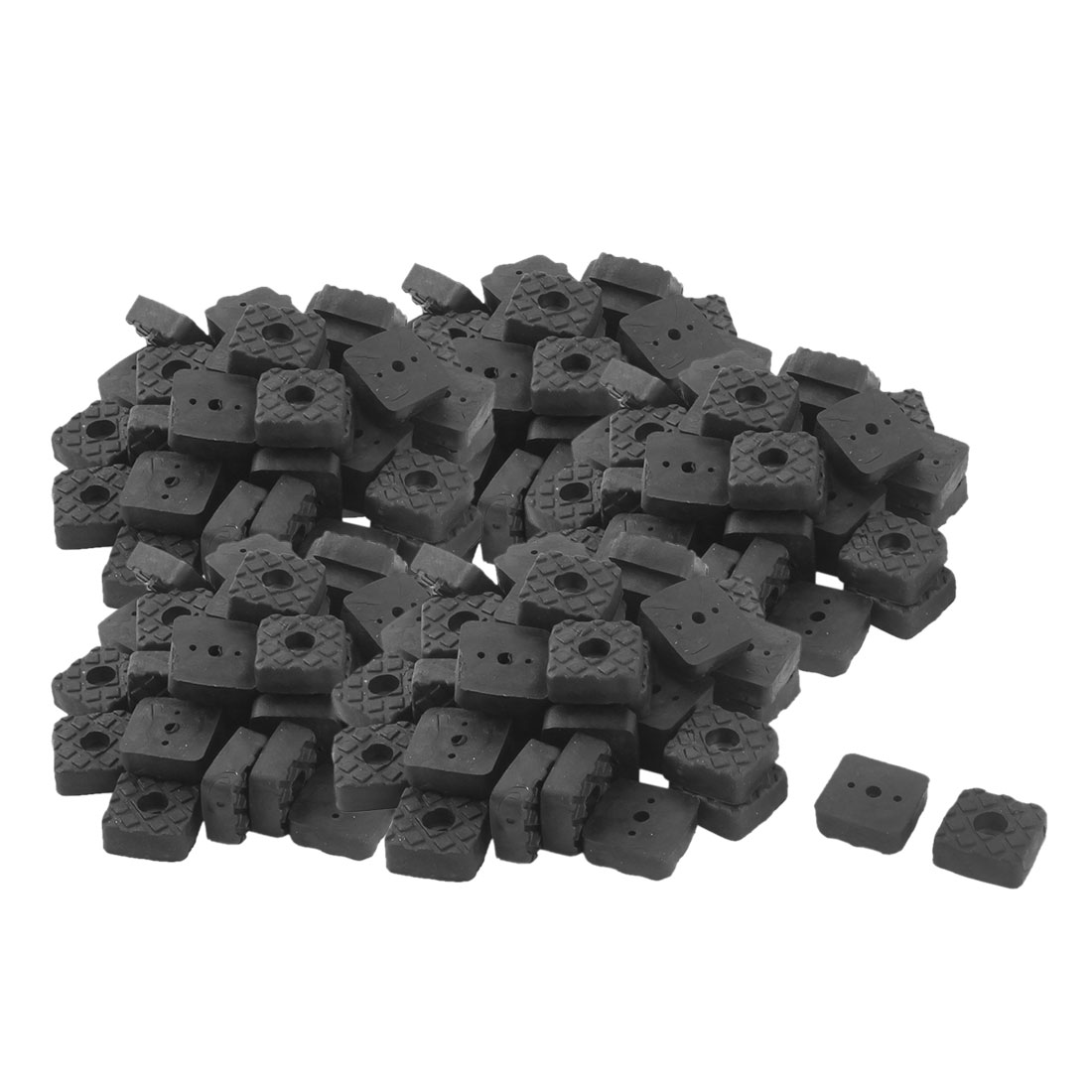 Office Rubber Square Table Furniture Foot Anti-slip Pad Black 22 x 22mm 200 Pcs