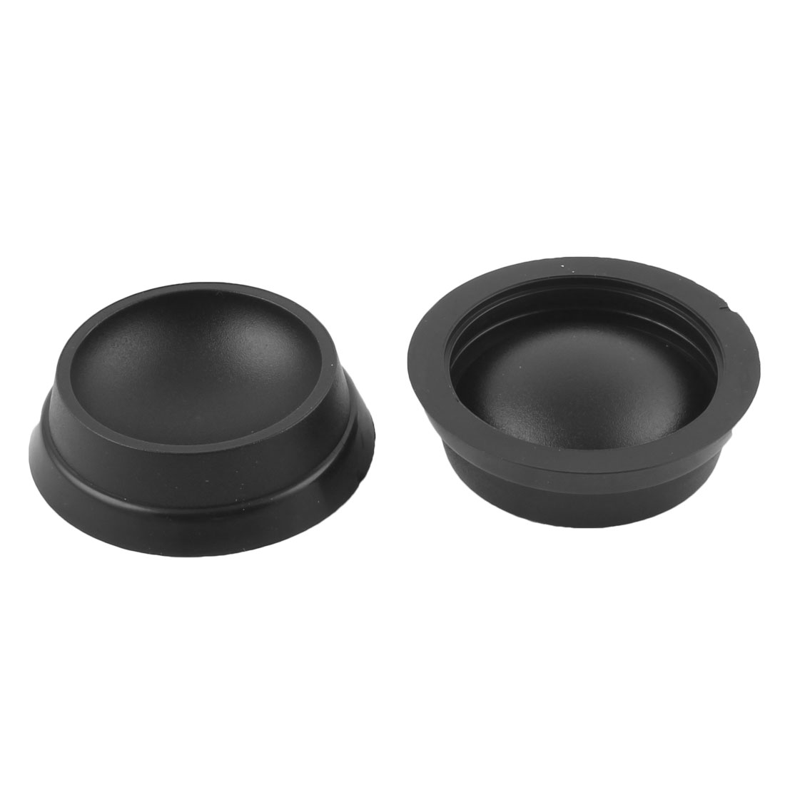 Household Furniture Bed Piano Wheels Non-slip Castor Cup Holder Black 2pcs