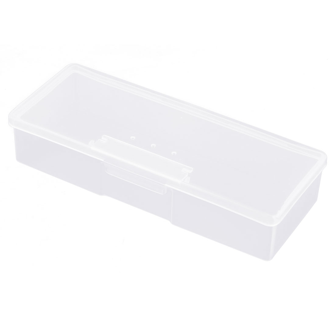 Lady Plastic Single Slot Comestics Aseptic Cotton Storage Case Container Clear