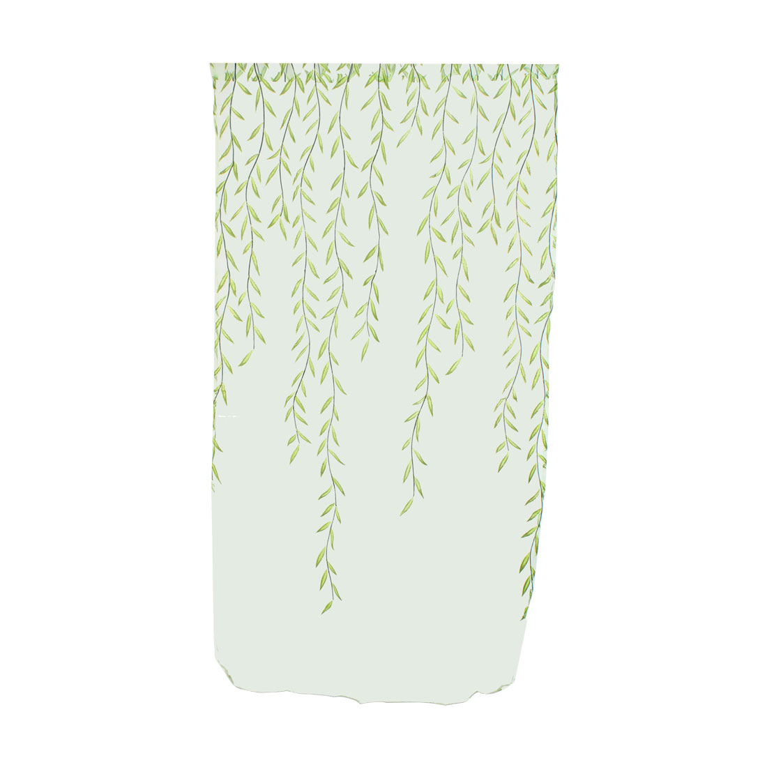 Piccocasa Household Voile Willow Pattern Window Sheer Curtain Green 100 x 200cm